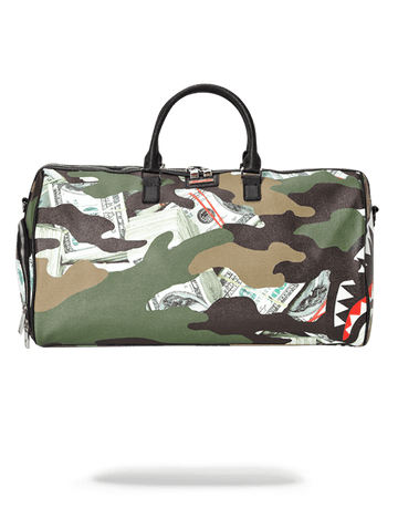 SPRAYGROUND- CAMO MONEY SHARK DUFFLE DUFFLE