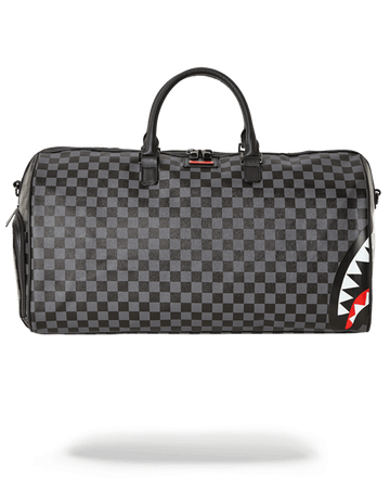 SPRAYGROUND- SHARKS IN PARIS (BLACK CHECKERED EDITION) DUFFLE DUFFLE
