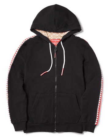 SPRAYGROUND- SHARKTRACK SPUCCI ZIPUP HOODIE (BLACK) APPAREL