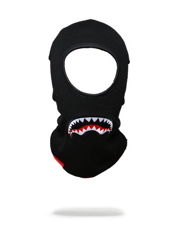 SPRAYGROUND- BLACK SHARKMOUTH SKI MASK SKI MASK