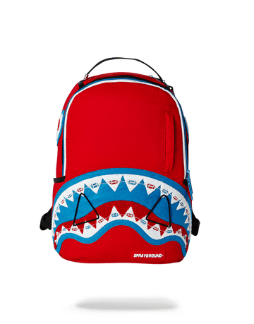 SPRAYGROUND- BRACES SHARK (RED) MINI