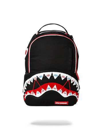 SPRAYGROUND- BRACES SHARK (BLACK) MINI