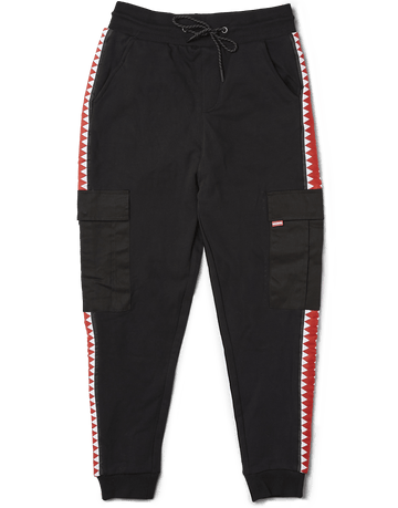 SPRAYGROUND- SHARKTRACK CARGO JOGGER (BLACK) APPAREL