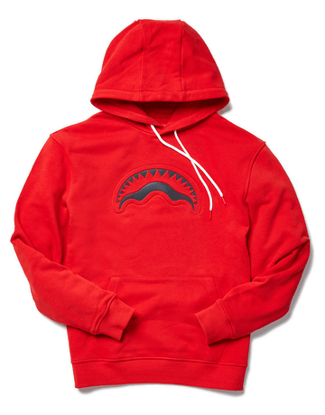 SPRAYGROUND- PRISM SHARKPOCKET HOODIE (RED) APPAREL