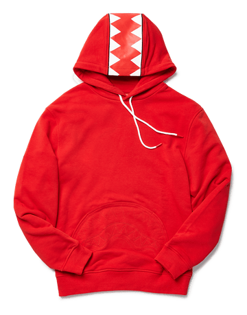 SPRAYGROUND- SHARKTRACK SHARKPOCKET HOODIE (RED) APPAREL