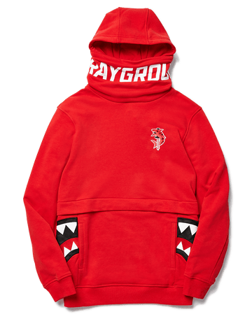 SPRAYGROUND- NINJA FACEMASK HOODIE (RED) APPAREL
