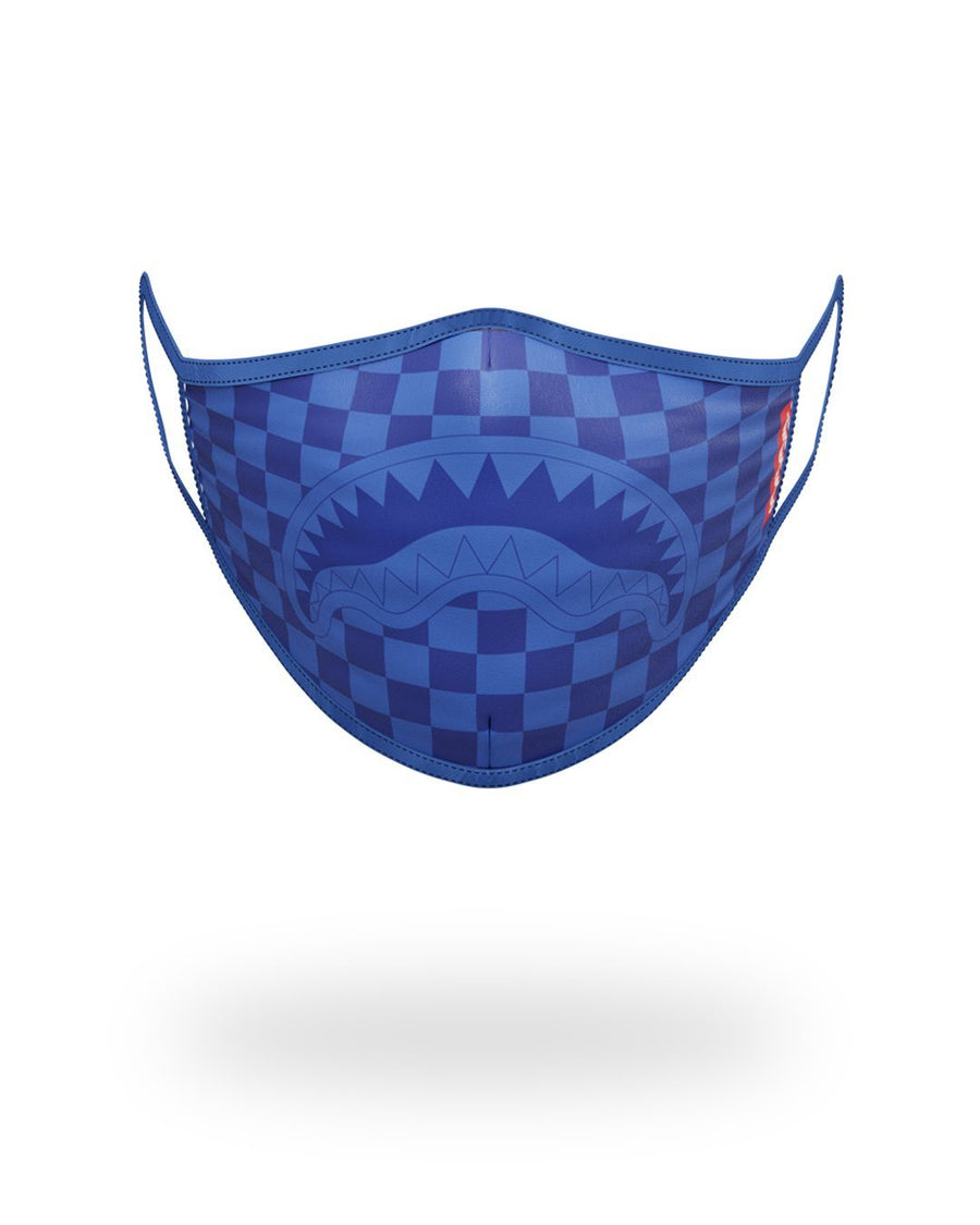 SPRAYGROUND- SHARKS IN PARIS (BLUE) FORM-FITTING MASK FASHION MASK