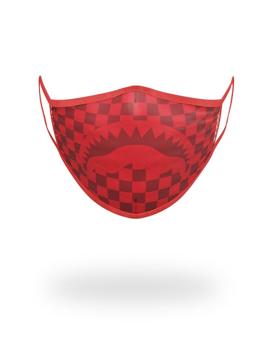 SPRAYGROUND- SHARKS IN PARIS (RED) FORM-FITTING MASK FASHION MASK