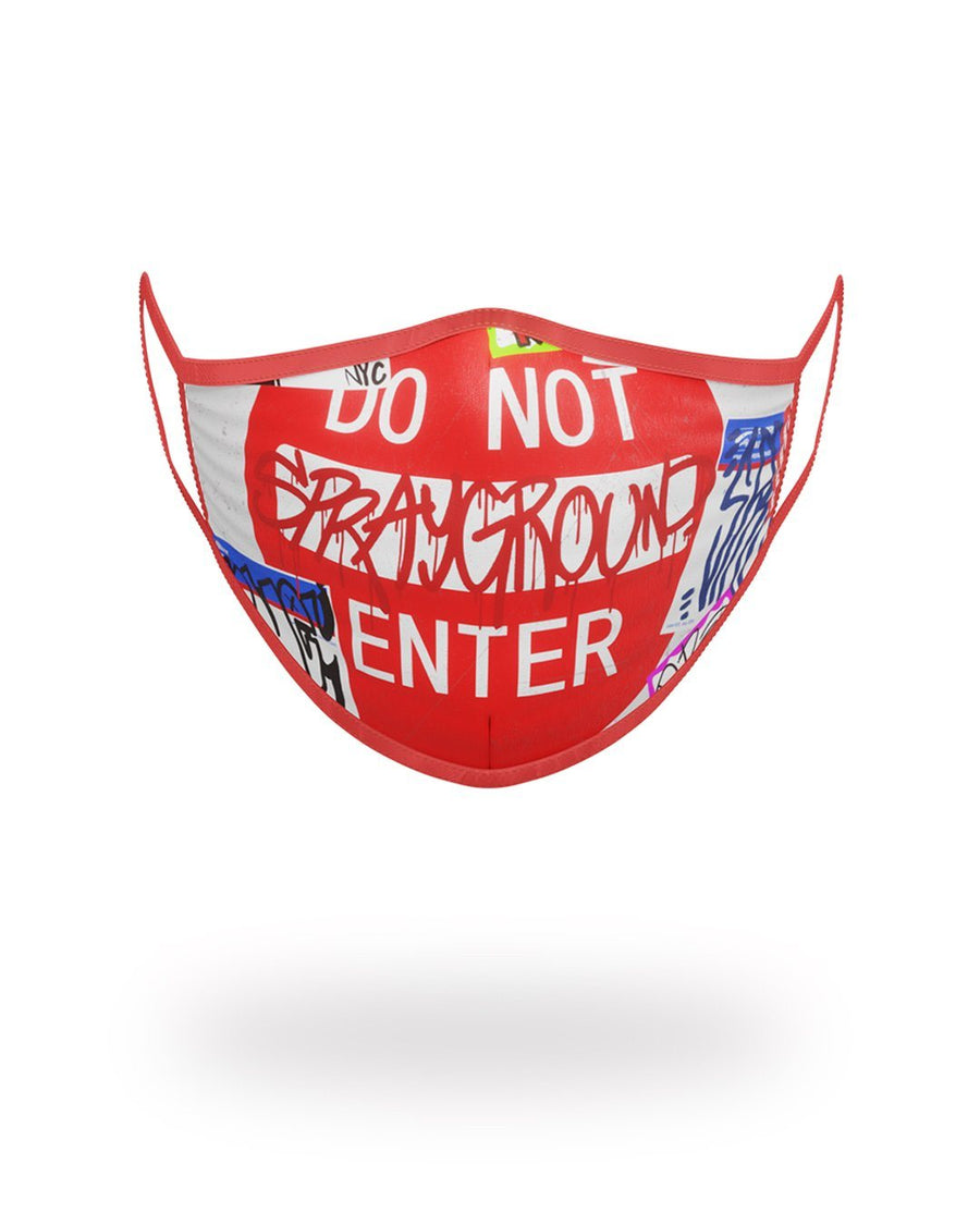 SPRAYGROUND- DO NOT ENTER FORM-FITTING MASK FASHION MASK