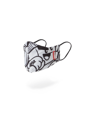 SPRAYGROUND- MONEY BOYS MASK (FORM-FITTING) FASHION MASK