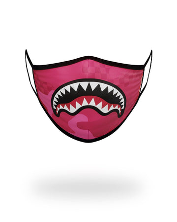 SPRAYGROUND- PINK ANIME SHARK FORM-FITTING MASK FASHION MASK