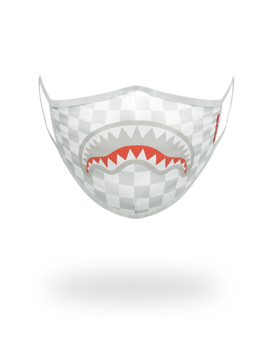 SPRAYGROUND- SHARKS IN PARIS (WHITE) FORM-FITTING MASK FASHION MASK