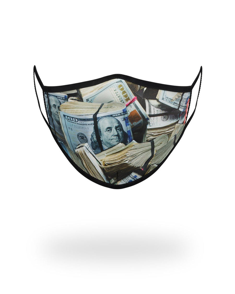 SPRAYGROUND- MONEY WHERE UR MOUTH IS FORM-FITTING MASK FASHION MASK