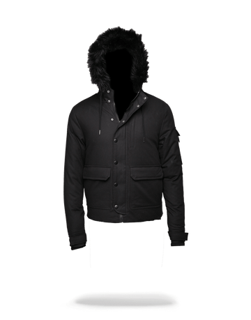 SPRAYGROUND- SOLID BLACK CHOPPER JACKET OUTERWEAR