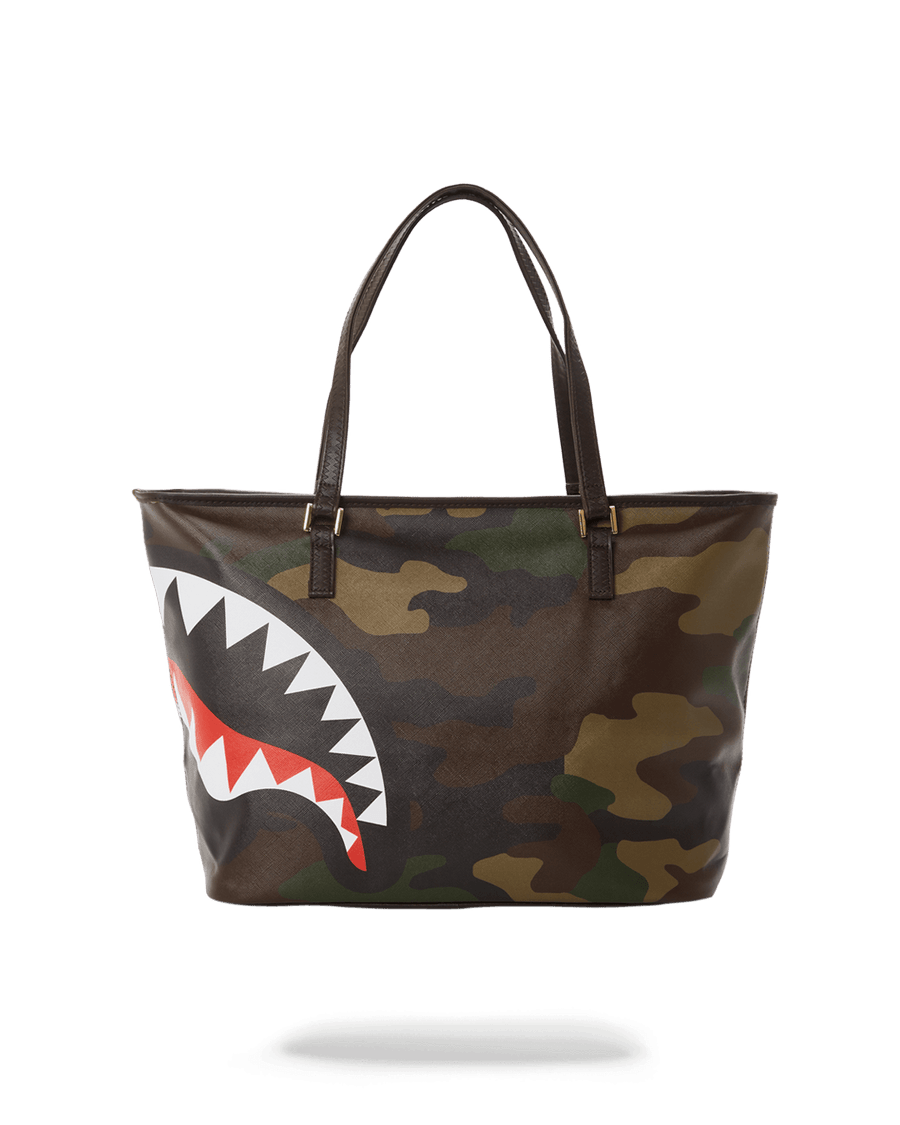 CHECKS IN CAMOFLAUGE TOTE