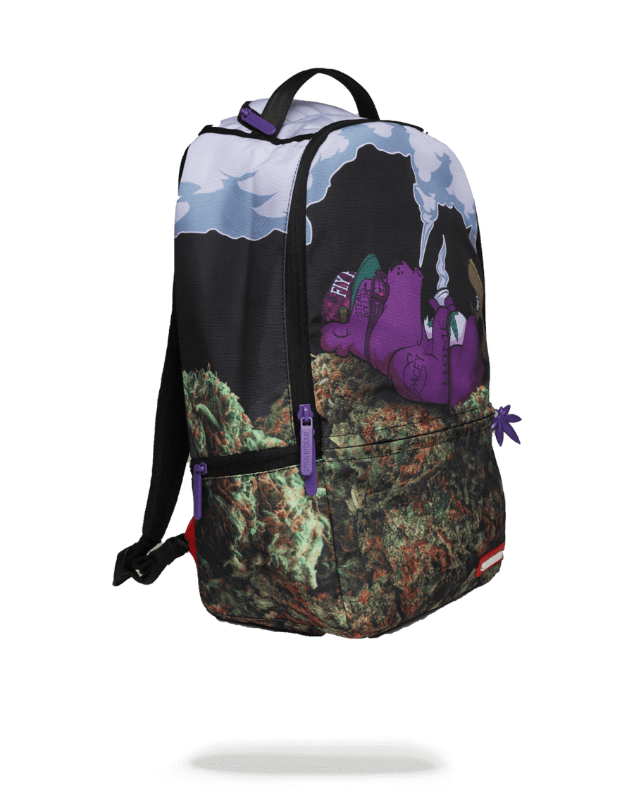 SPRAYGROUND- PURPLE HAZE GANJA BEAR BACKPACK