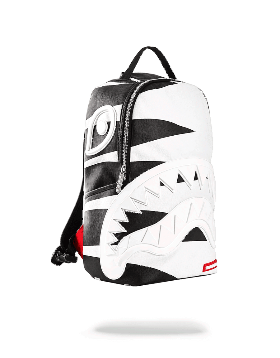 SPRAYGROUND- PHANTOM WHITE RUBBER SHARK BACKPACK