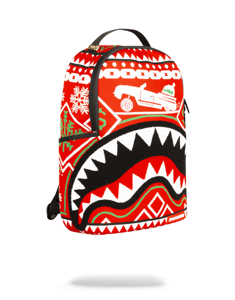 SPRAYGROUND- UGLY SWEATER SHARK BACKPACK