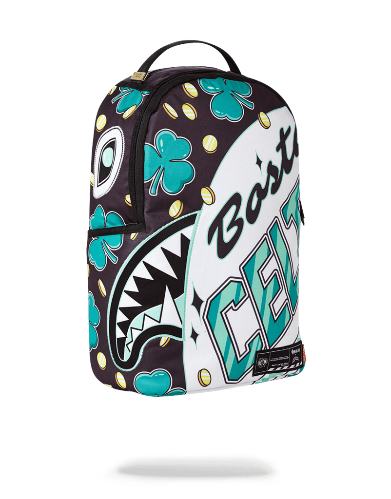 SPRAYGROUND- NBA LAB BOSTON CELTICS LUCKY COIN SHARK BACKPACK