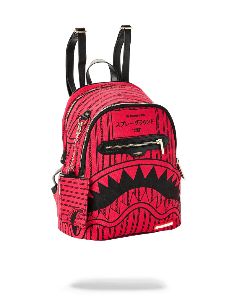 SPRAYGROUND- PINK REVERSE SHARKS IN PARIS SAVAGE WOMENS BACKPACK