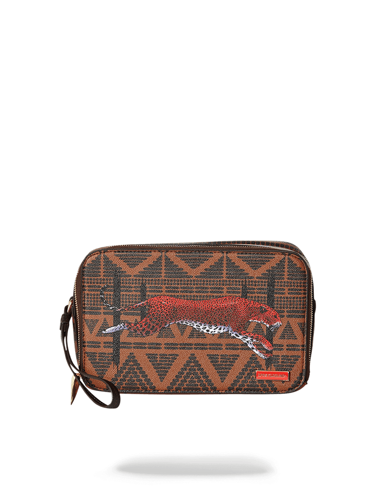 SPRAYGROUND- LEOPARDS IN PARIS TOILETRY AKA MONEY BAG TOILETRY