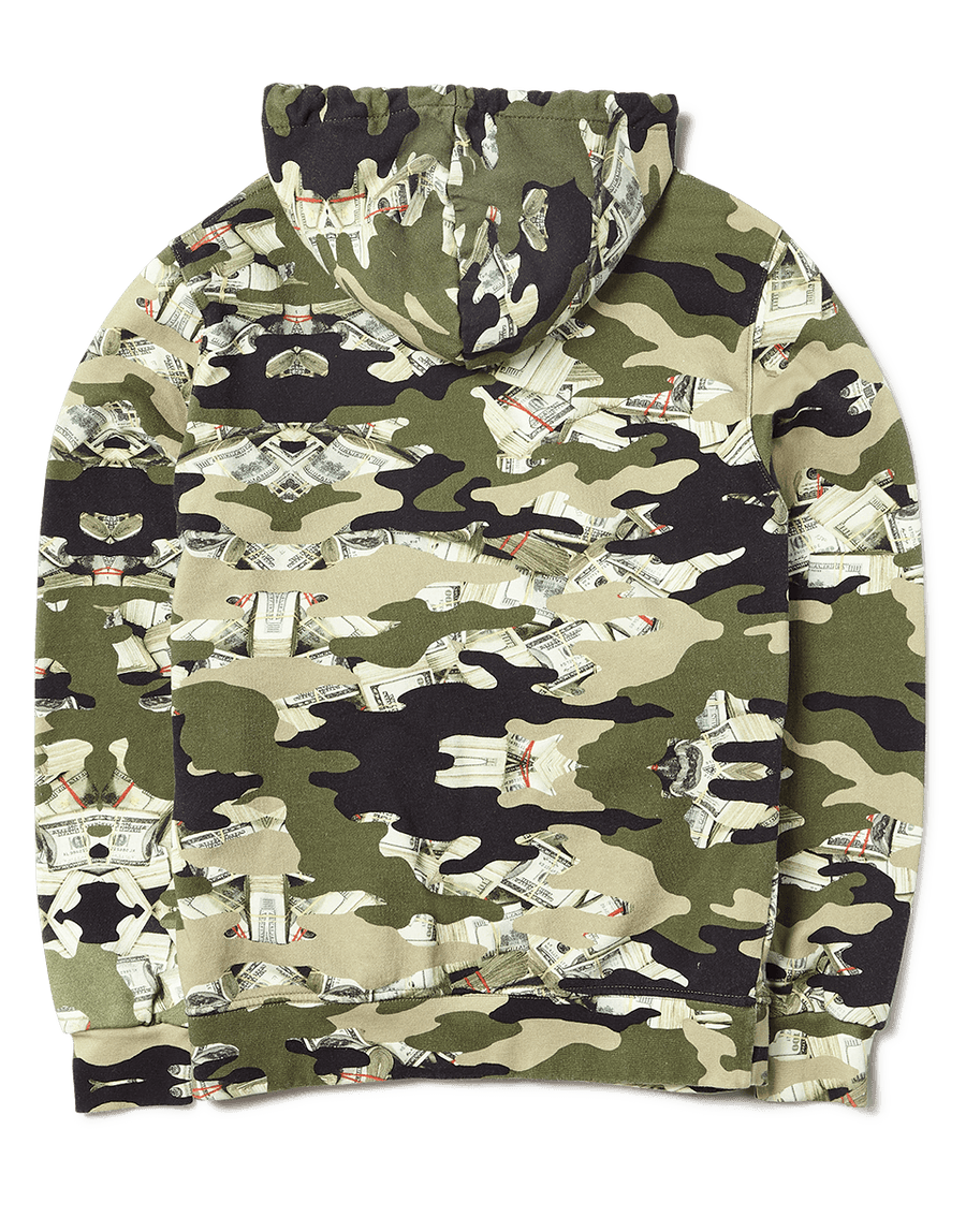 SPRAYGROUND- CAMO MONEY HOODIE APPAREL