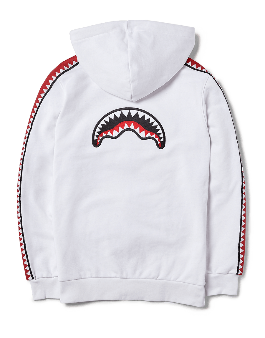 SPRAYGROUND- SHARKTRACK SPUCCI ZIPUP HOODIE (WHITE) APPAREL