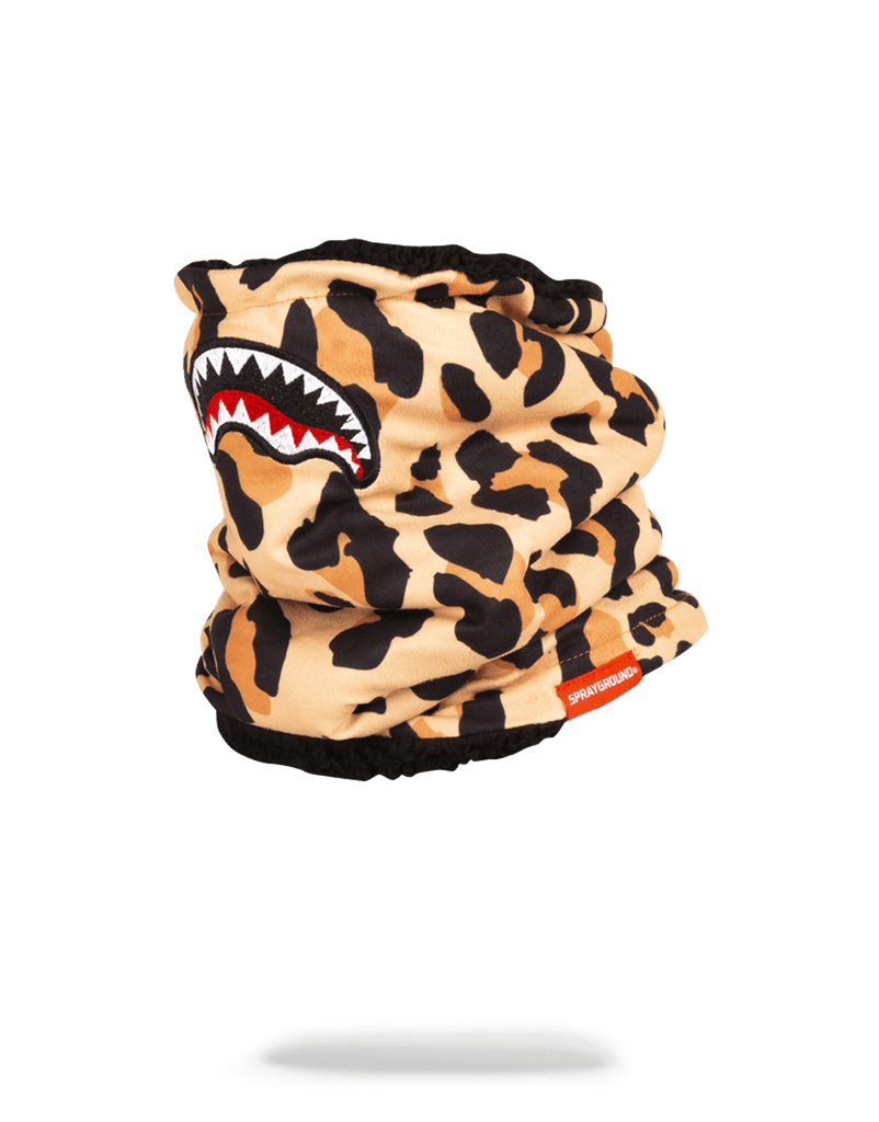 SPRAYGROUND- LEOPARD NECK WARMER SKI MASK