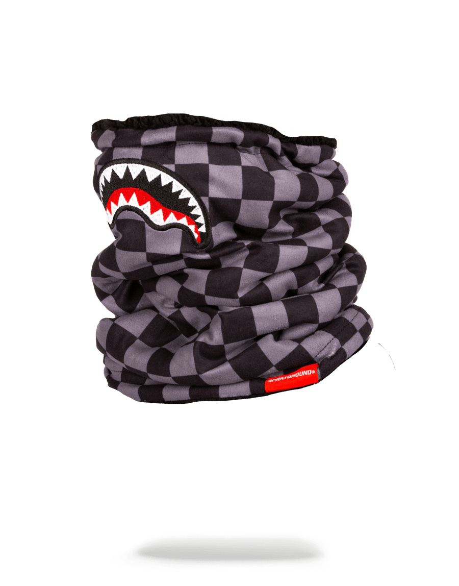 SPRAYGROUND- CHECKERED SHARK NECK WARMER SKI MASK