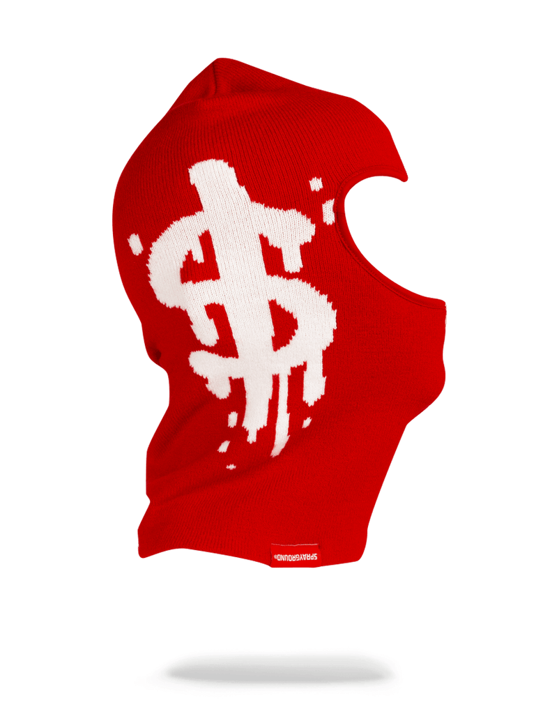 SPRAYGROUND- MONEY DRIP SKI MASK (RED) SKI MASK