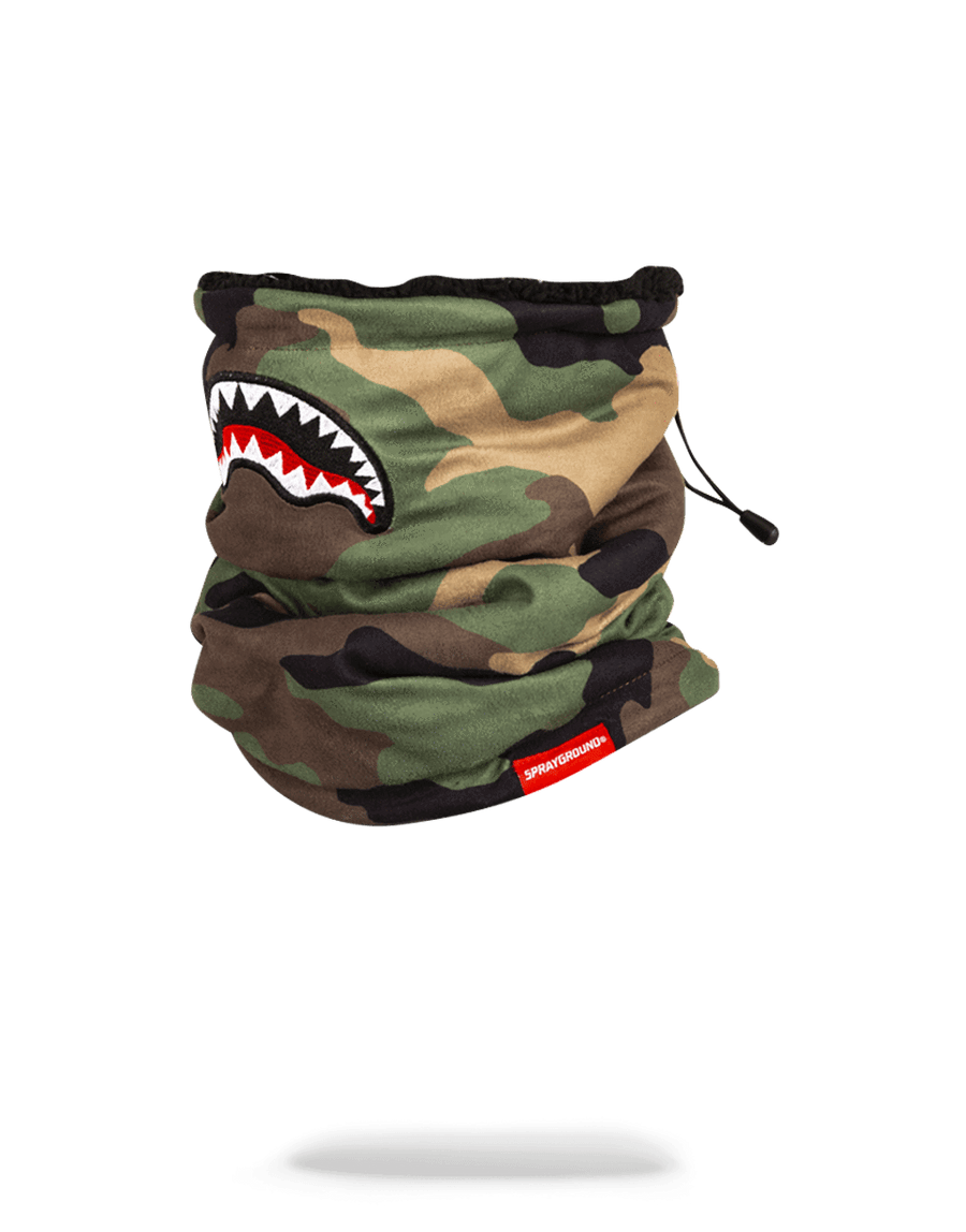 SPRAYGROUND- CAMO SHARK NECK WARMER SKI MASK