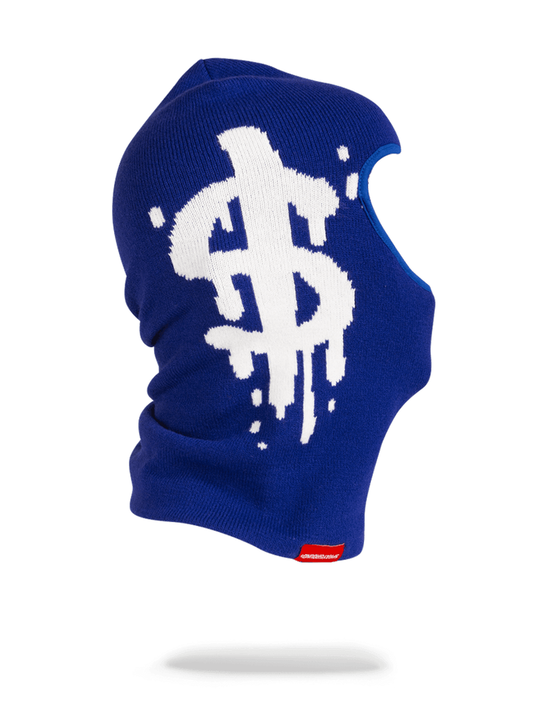 SPRAYGROUND- MONEY DRIP SKI MASK (BLUE) SKI MASK