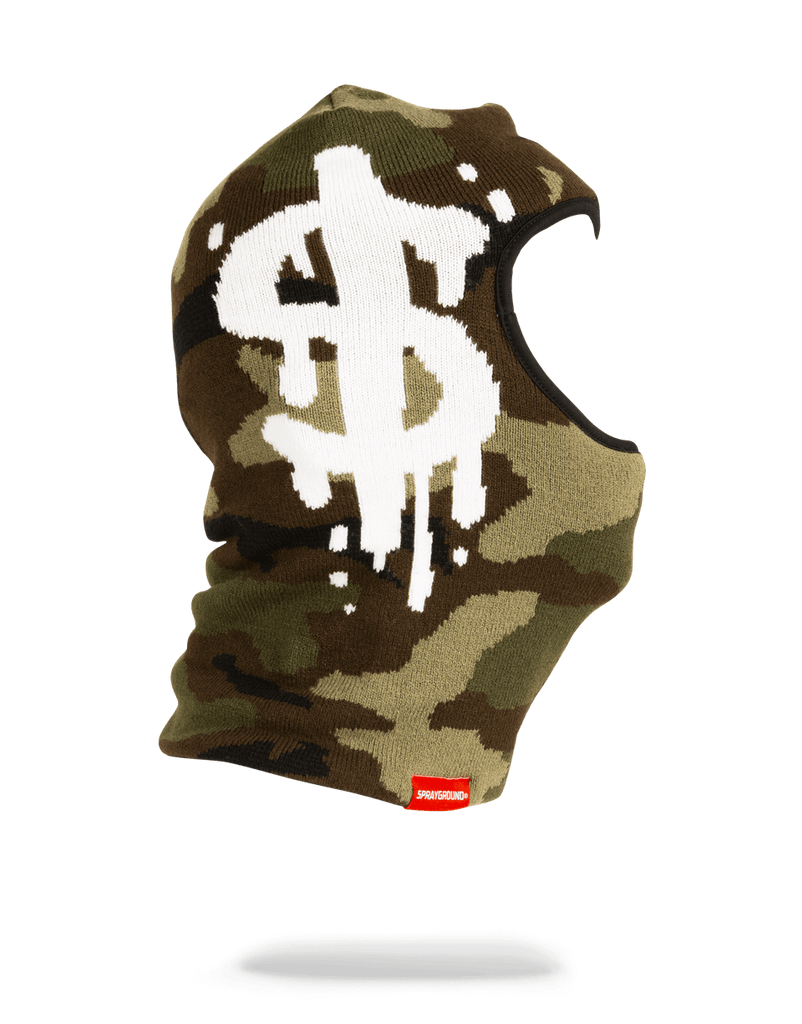 SPRAYGROUND- CAMO MONEY DRIP SKI MASK SKI MASK