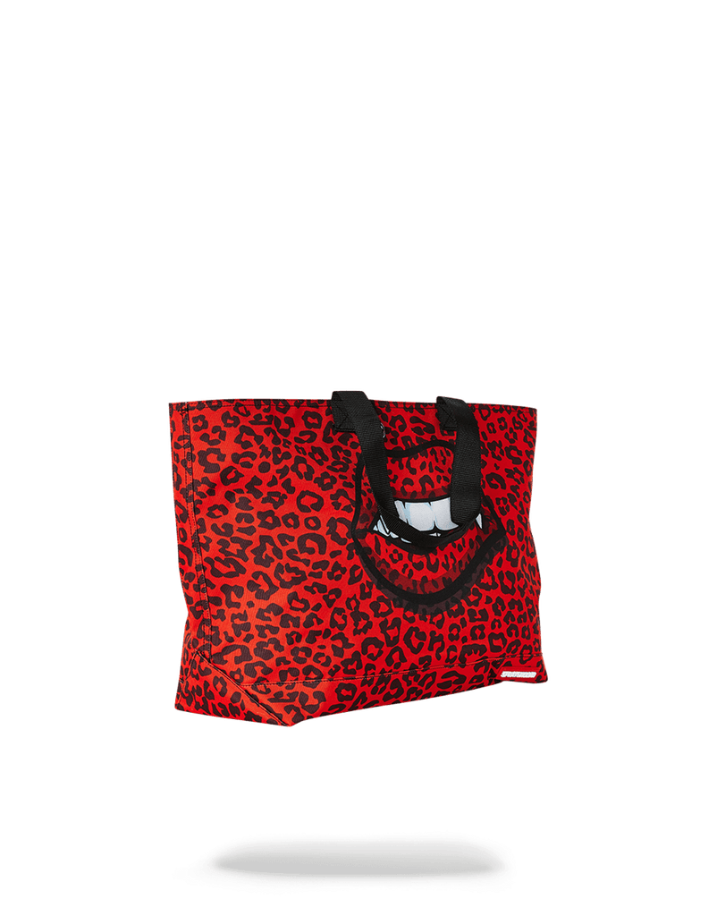 SPRAYGROUND- RED LEOPARD LIPS TOTE TOTE