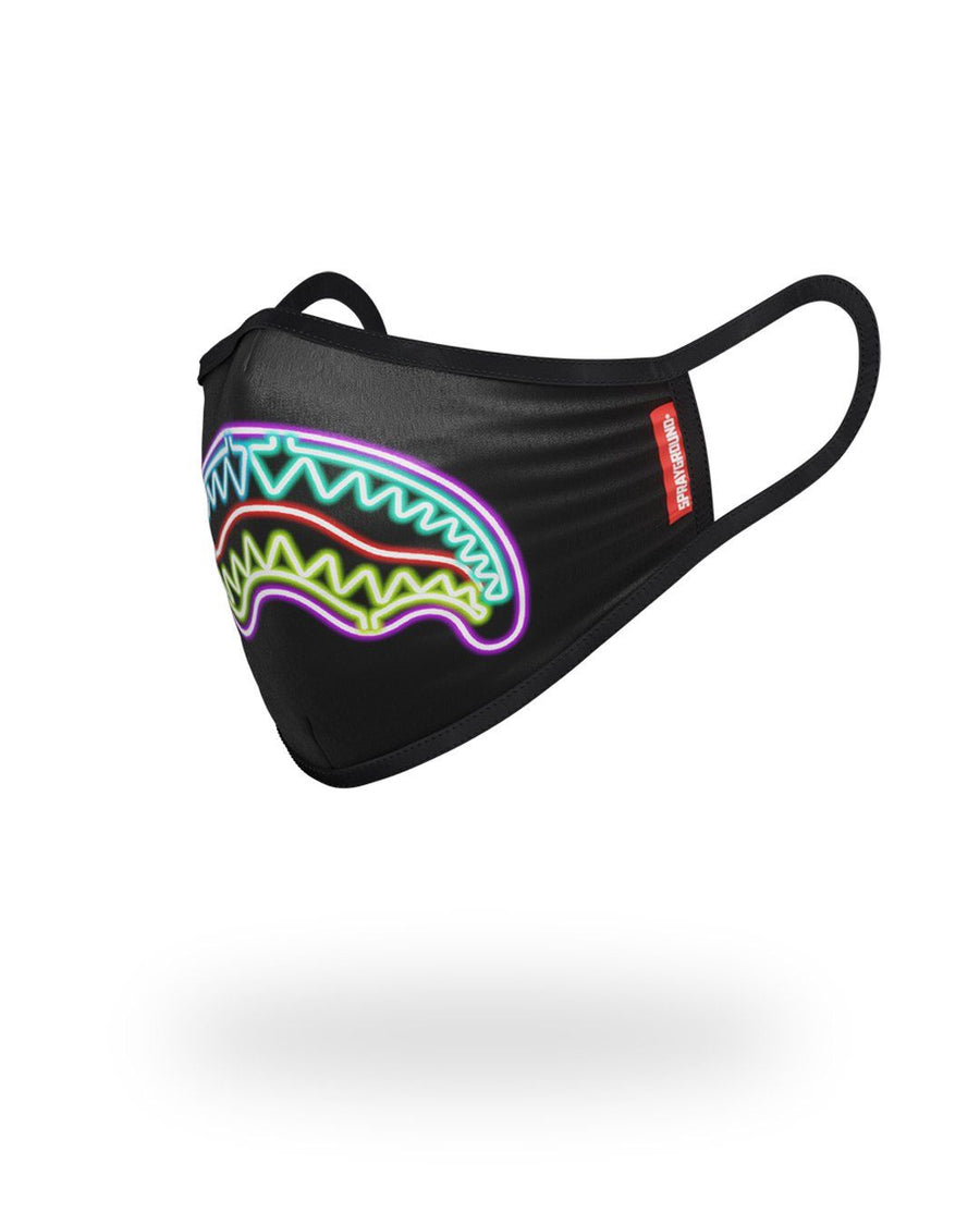 SPRAYGROUND- NEON SHARK FORM-FITTING MASK FASHION MASK