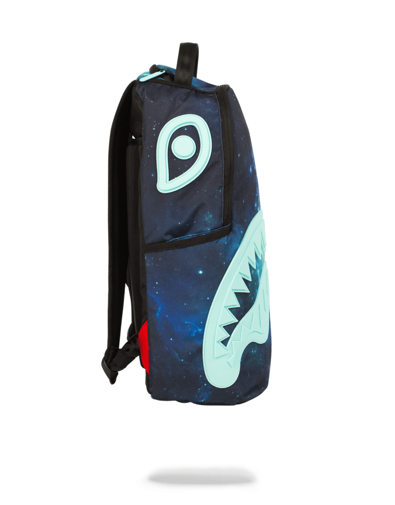 SPRAYGROUND- TIFF GALAXY RUBBER SHARK BACKPACK