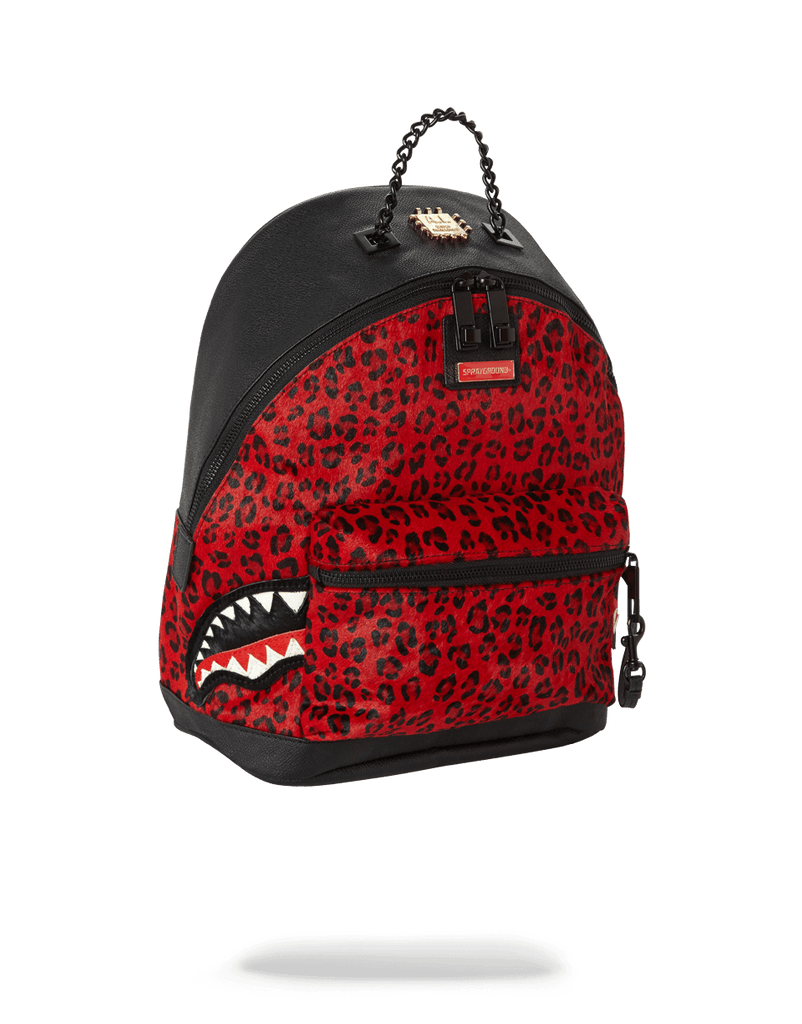 SPRAYGROUND- 6-STRAP RED LEOPARD EMPRESS (PONY HAIR) WOMENS BACKPACK