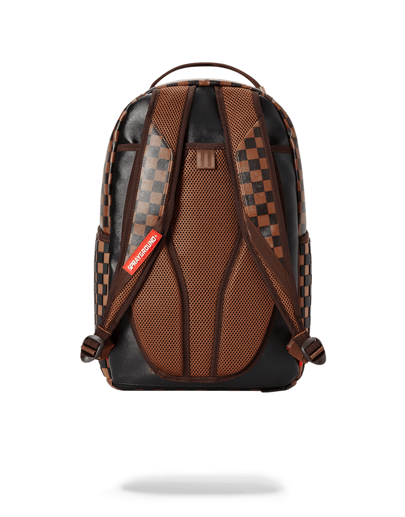 SPRAYGROUND- 3D MOLDED RUBBER CHECKERED LOGO BACKPACK