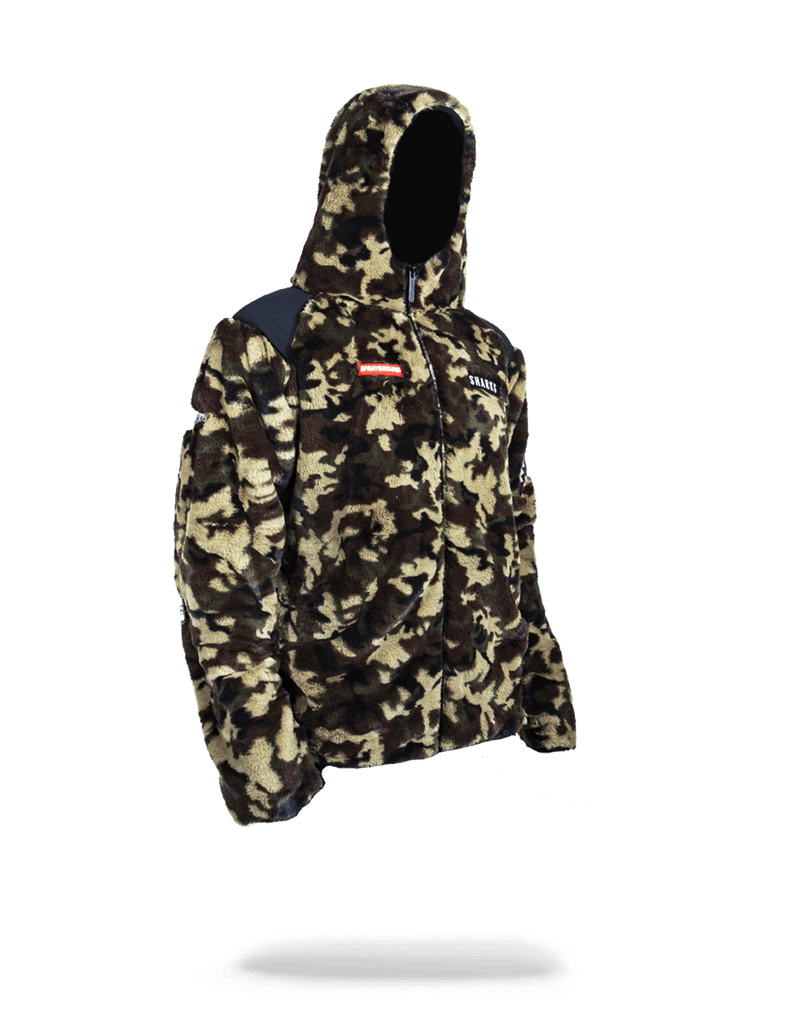 SPRAYGROUND- CAMO FLEECE OUTERWEAR