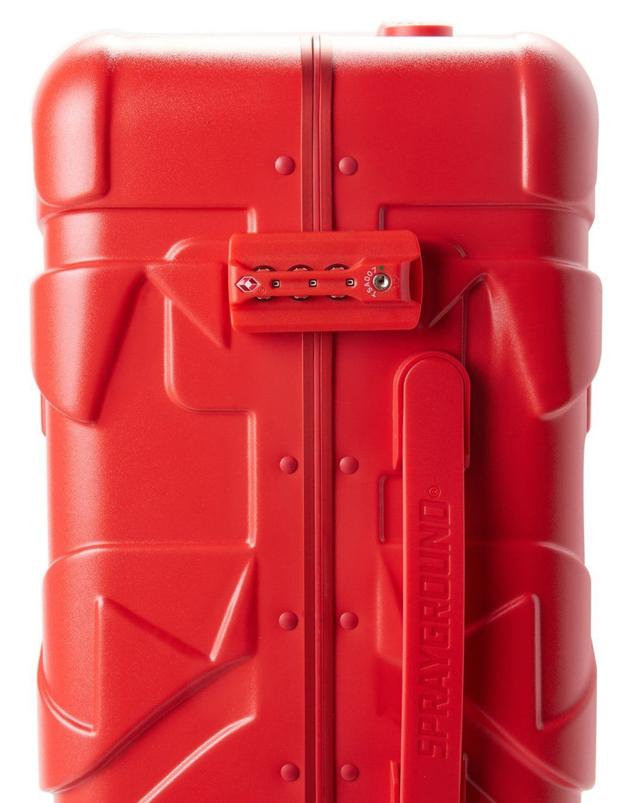 "SPRAYGROUND- SHARKITECTURE (RED) 21.5"" CARRY-ON LUGGAGE LUGGAGE"