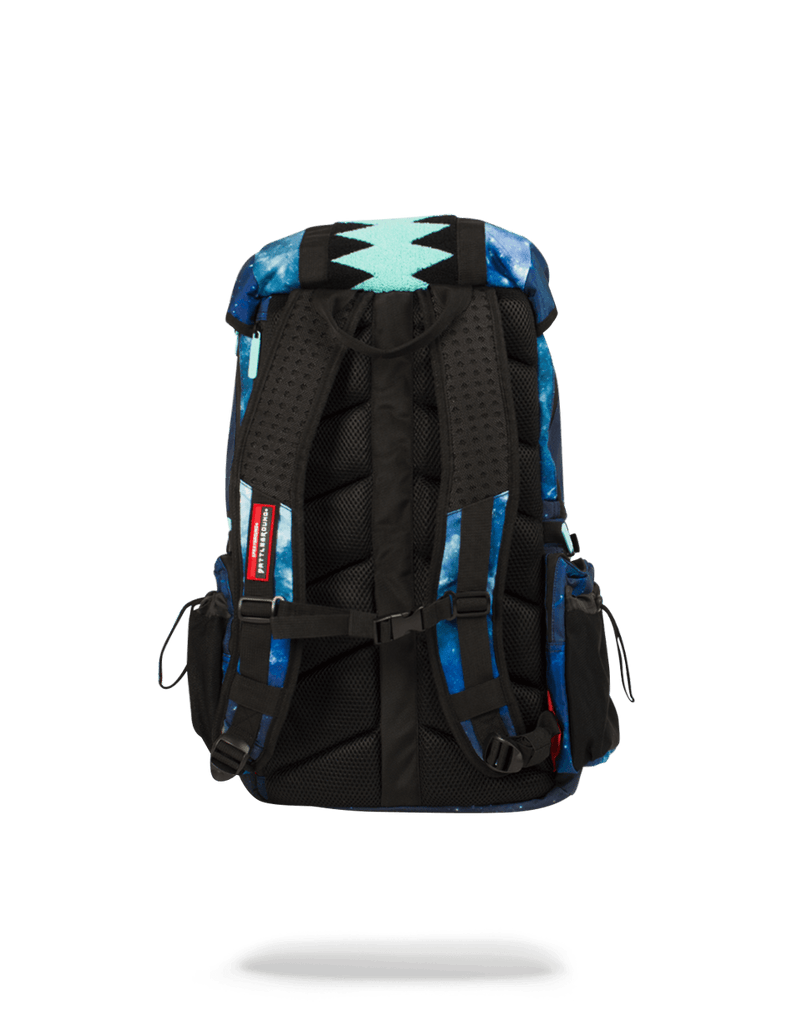 SPRAYGROUND- TIFF GALAXY VERTICAL SHARKMOUTH TOP GEAR BACKPACK