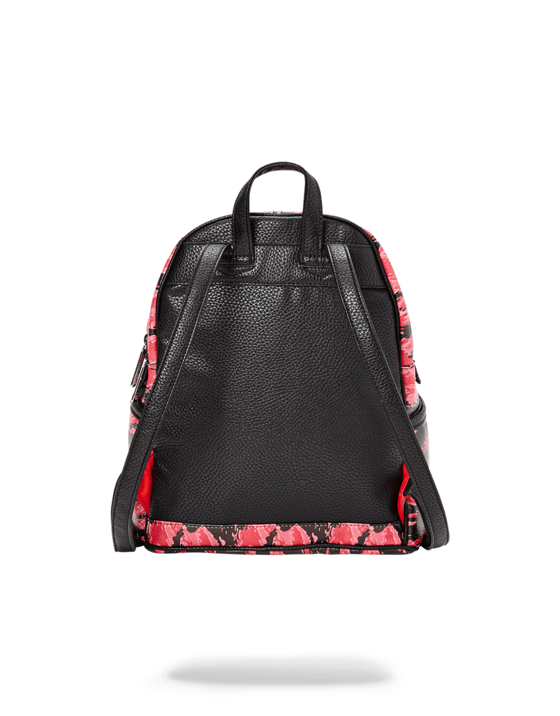 SPRAYGROUND- PINK TIGER CAMO SHARKMOUTH SAVAGE BACKPACK WOMENS BACKPACK