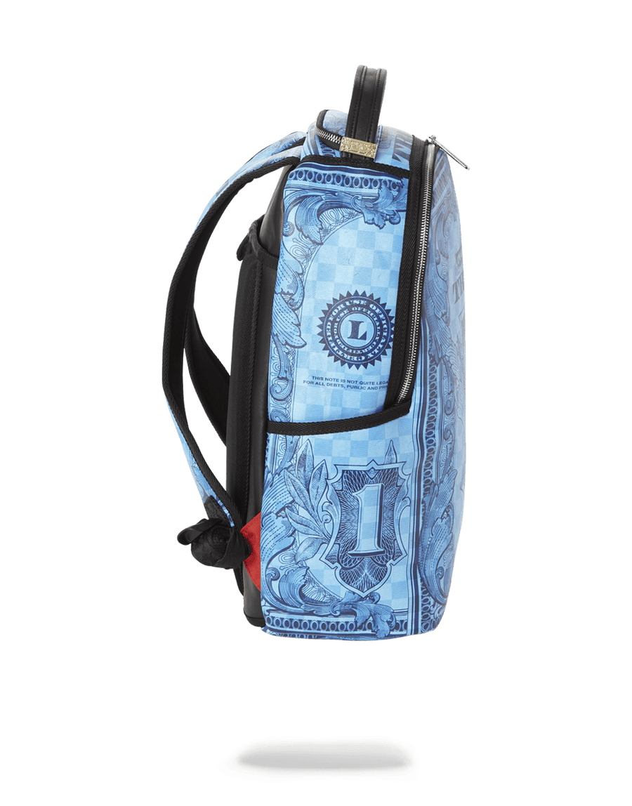 SPRAYGROUND- IN GOD WE TRUST BLUE BACKPACK (ONE OF ONE) BACKPACK