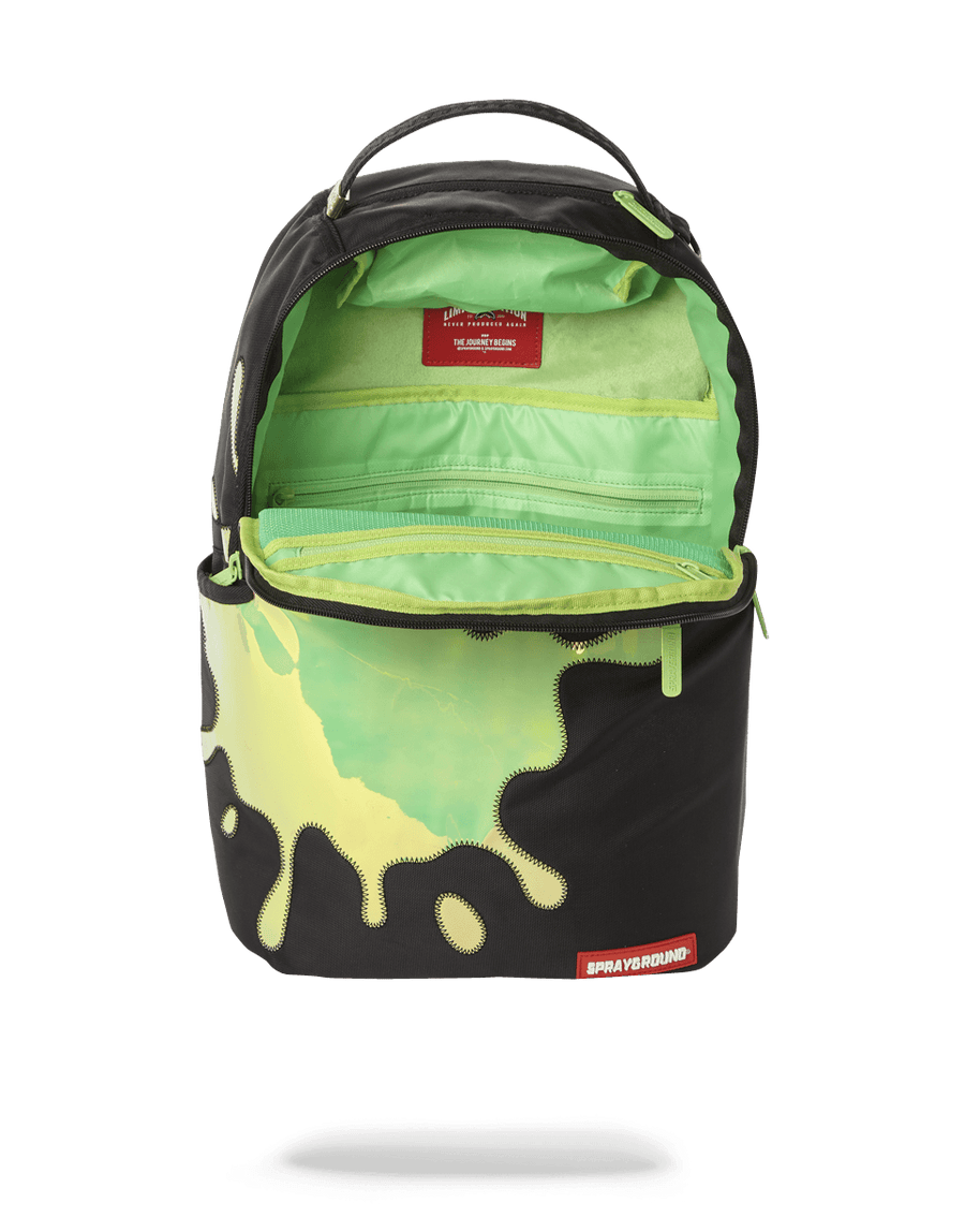 SPRAYGROUND- BLUE MIRROR REFLECTIVE SPLAT BACKPACK (ONE OF ONE) BACKPACK