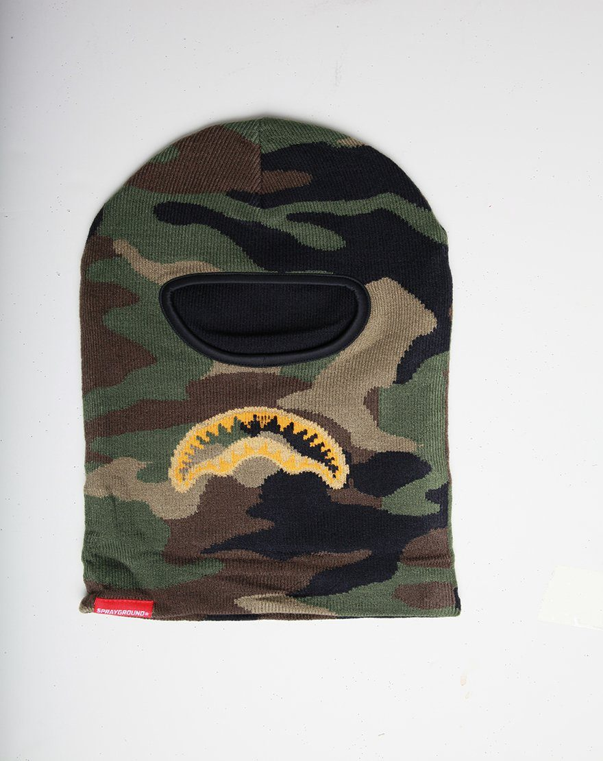 SPRAYGROUND- GOLD KNIT SHARK MOUTH SKI MASK SKI MASK