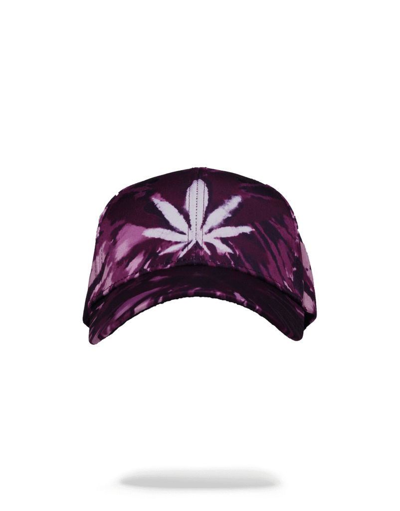 TIE DYE PURPLE SHARK MOUTH HAT
