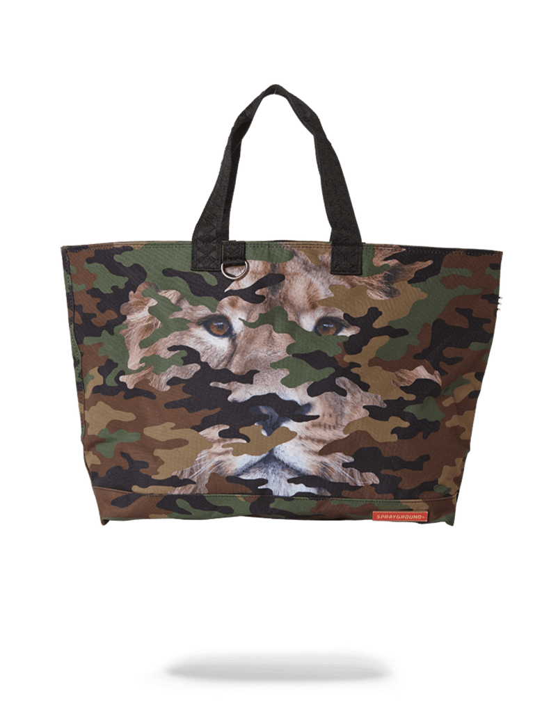 SPRAYGROUND- LION CAMO TOTE BAG TOTE