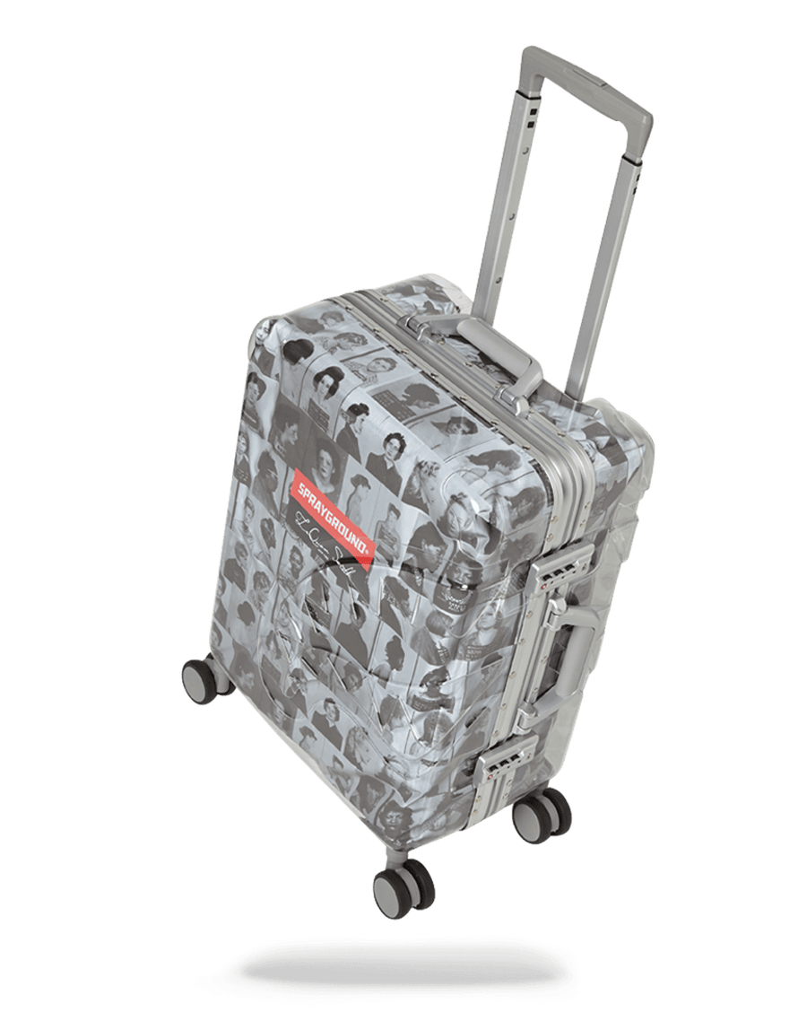 SPRAYGROUND- LAQUAN SMITH EMBOSSED CLEAR 3M CARRY-ON LUGGAGE