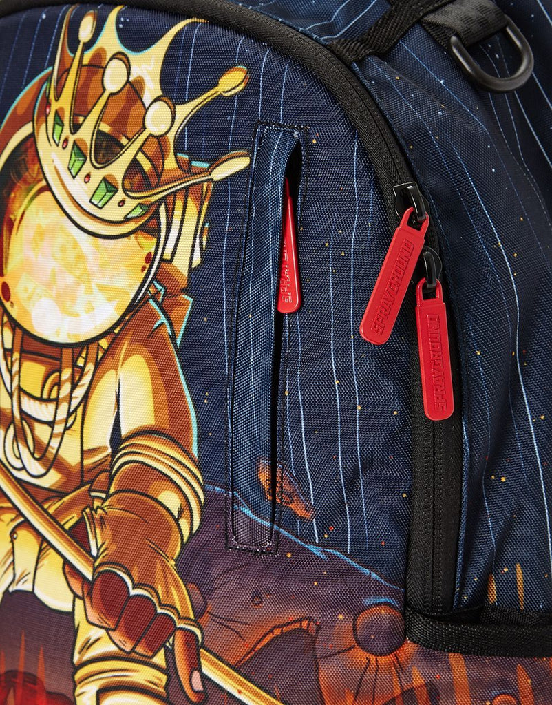 SPRAYGROUND- GOLD ASTRONAUT METEOR SHARK BACKPACK