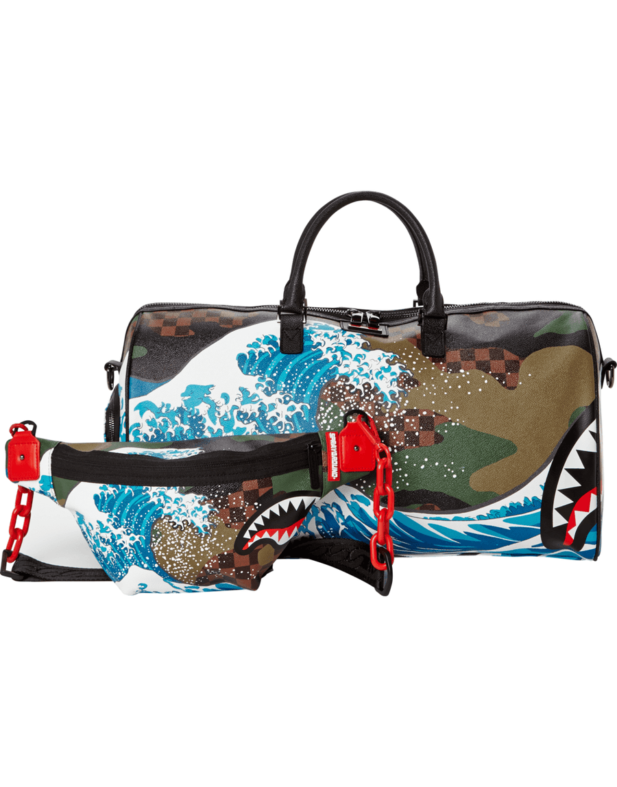SPRAYGROUND- CAMOKAWA WAVE SHARK CROSSBODY CROSS BODY